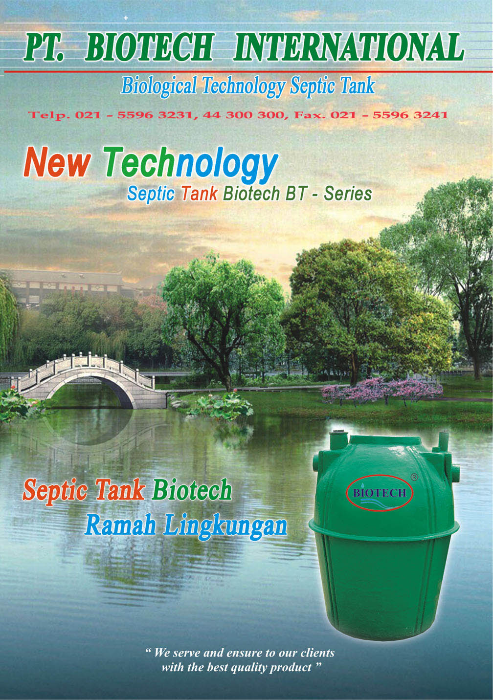 katalog biotech, brochures septik tenk biotek, pt. biotech international