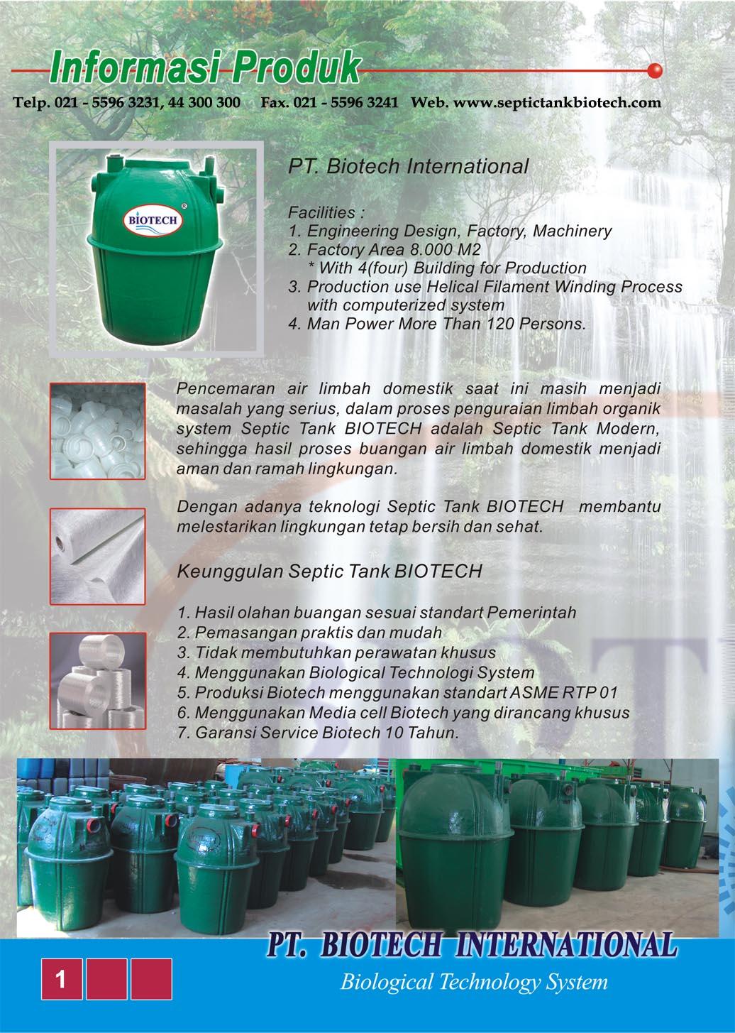 informasi produk septic tank biotech