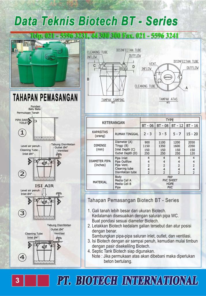 cara pasang septic tank biotech indonesia