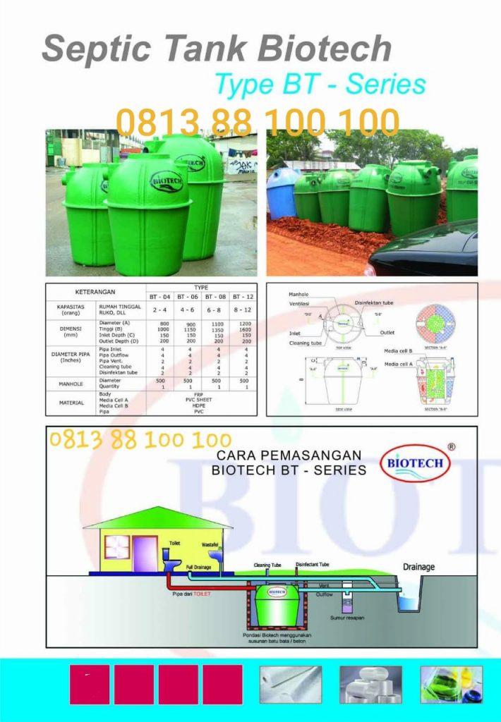 macam macam septic tank biotech type bt series